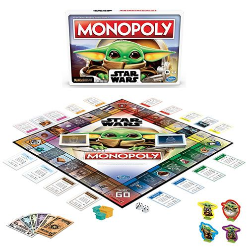 Boardgames - Monopoly - Star Wars - The Mandalorian (The Child Edition) - Hasbro