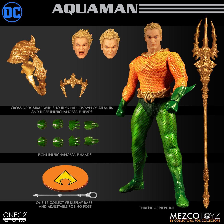 Action Figure Aquaman (DC Comics) One:12 Collective (Escala 1/12) Boneco Colecionável - Mezco