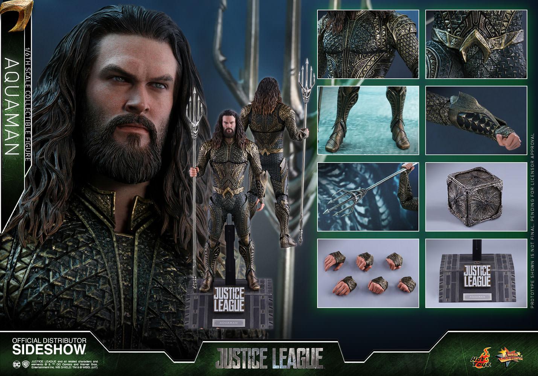 Action Figure Aquaman: Liga da Justiça (Justice League) MMS447 (Escala 1/6) - Hot Toys