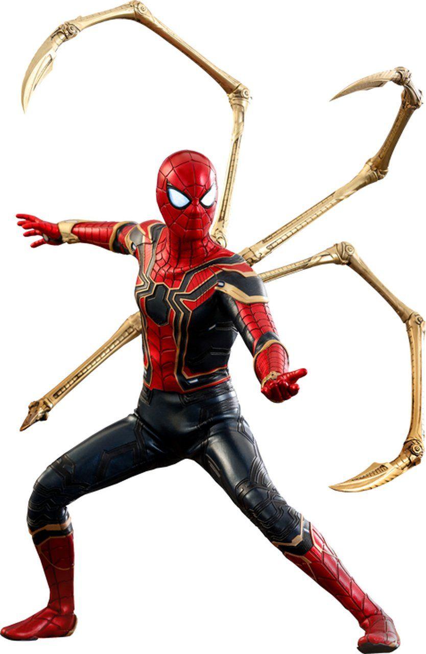 Action Figure Aranha de Ferro (Iron Spider): Vingadores Guerra Infinita (Avengers Infinity War) (MMS482) Boneco Colecionável (Escala 1/6) - Hot Toys