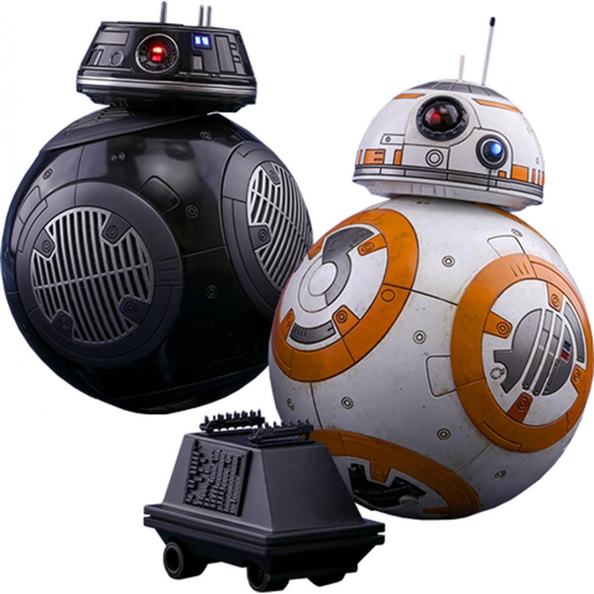 Boneco BB-8 e BB-9E: Star Wars Os Últimos Jedi (The Last Jedi) Escala 1/6 - Hot Toys (Apenas Venda Online)