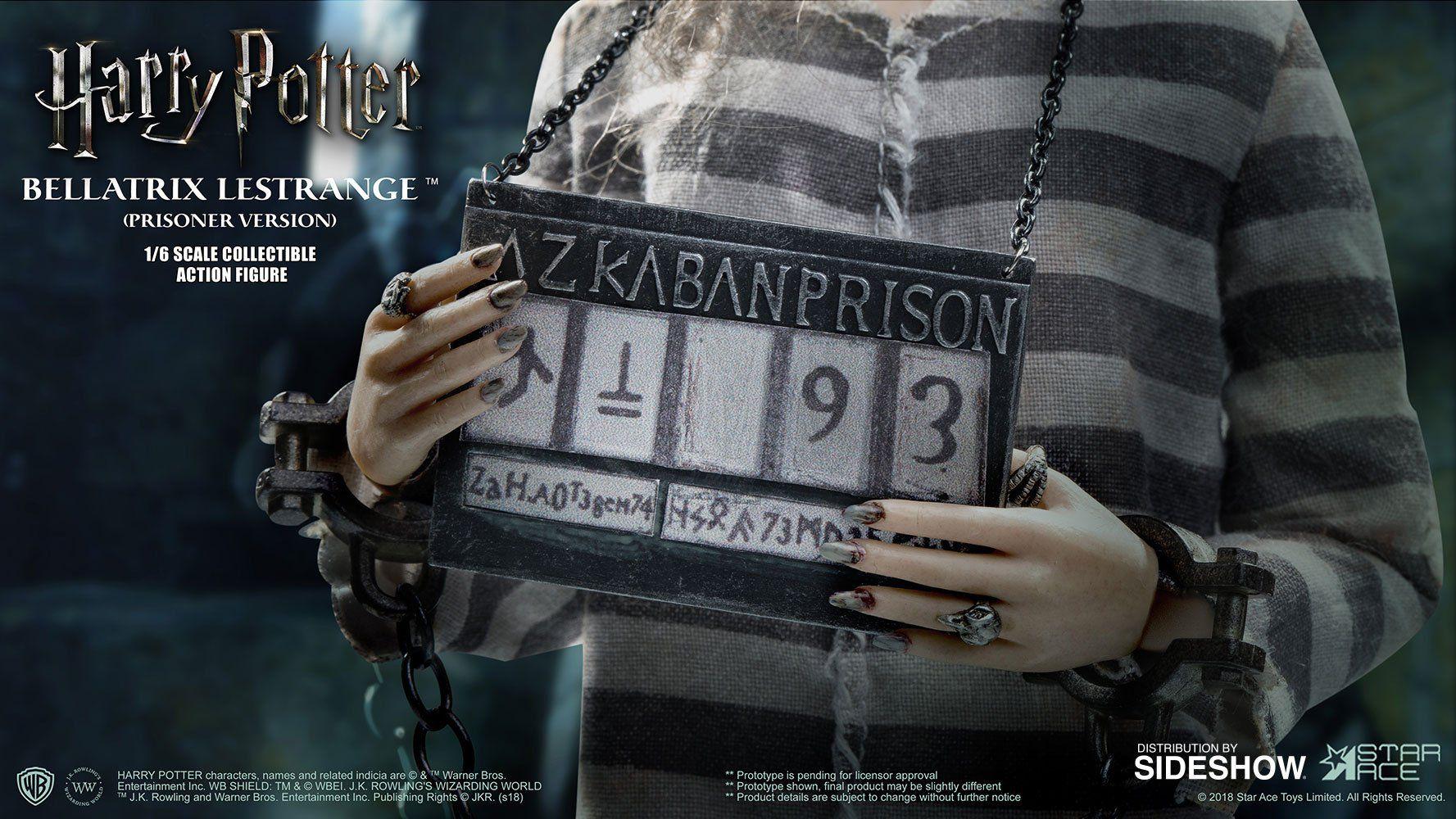 PRÉ VENDA: Boneco Bellatrix Lestrange (Versão Prisioneira): Harry Potter e a Ordem da Fênix (Order of the Phoenix) Escala 1/6 - Star Ace