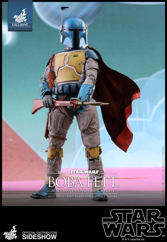 PRÉ VENDA: Boneco Boba Fett (Animation Version):Star Wars Holiday Special Exclusivo Escala 1/6 - Hot Toys