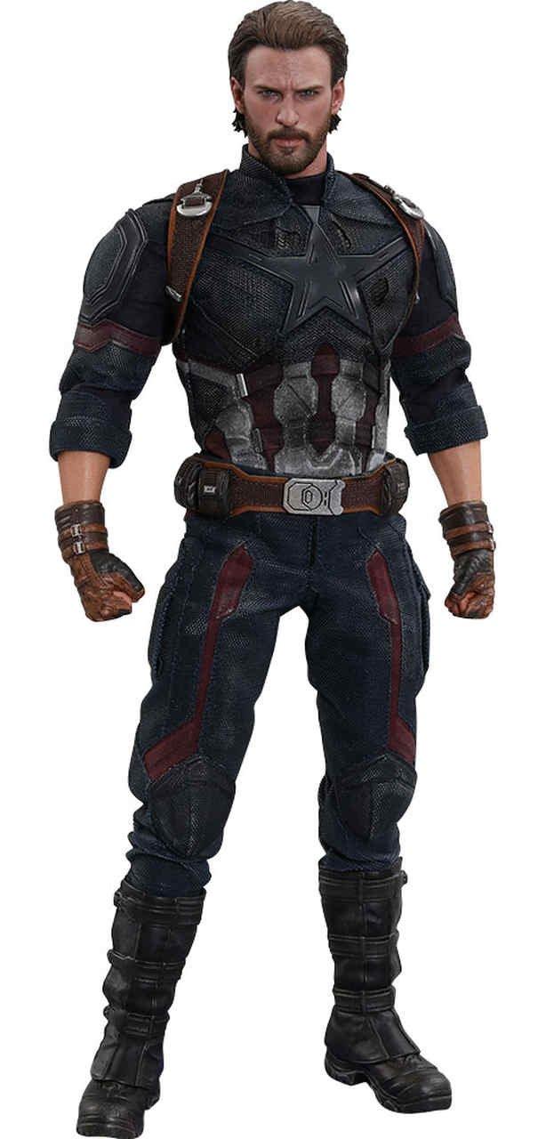 Action Figure Capitão América (Captain America): Vingadores Guerra Infinita (Avengers Infinity War) Boneco Colecionável  (MMS480) Escala 1/6 - Hot Toys