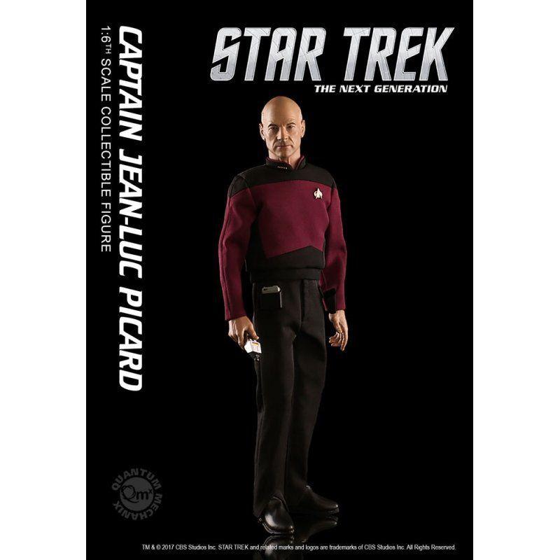Boneco Captain Jean-Luc Picard: Star Trek The Next Generation Escala 1/6 - Quantum Mechanix