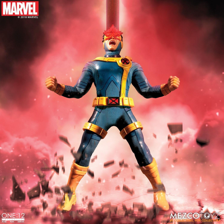 Action Figure Ciclope (Cyclops): X-Men (Marvel) One:12 Collective (Escala 1/12) Boneco Colecionável - Mezco