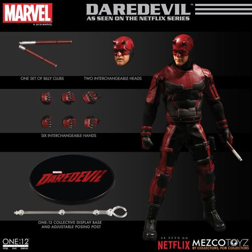 Action Figure Demolidor (Daredevil): Netflix - One:12 Collective (Escala 1/12) Boneco Colecionável - Mezco (Apenas Venda Online)
