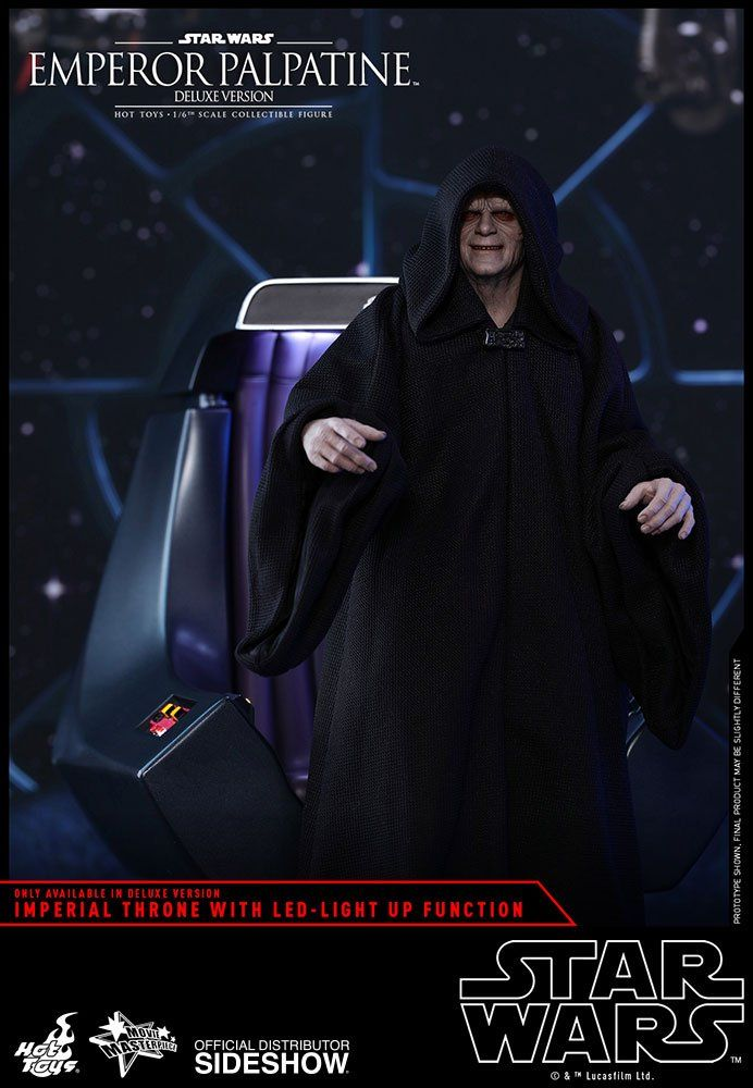 PRÉ VENDA: Boneco Emperor Palpatine (Deluxe Version): Star Wars Return Of The Jedi (O Retorno de Jedi) MMS468 Escala 1/6 - Hot Toys