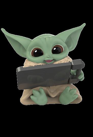"PRÉ VENDA: Boneco Grogu ""Baby Yoda"" ""Datapad Tablet"" (The Child): The Mandalorian (Star Wars) Serie 3 - Hasbro"