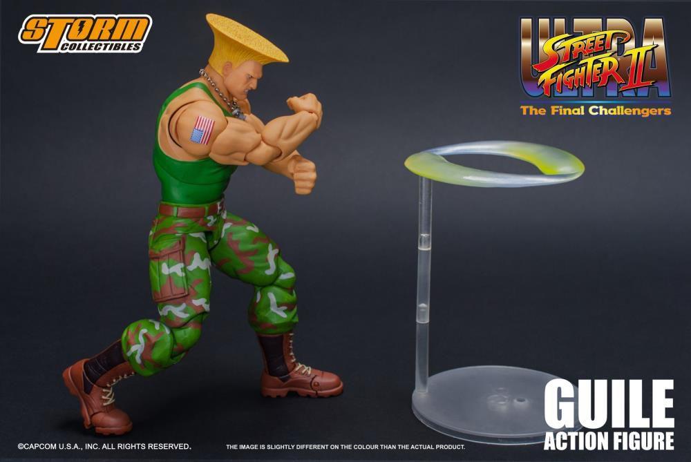PRÉ VENDA Action Figure Guile: Street Fighter II (Escala 1/12) Boneco Colecionável - Storm Collectibles