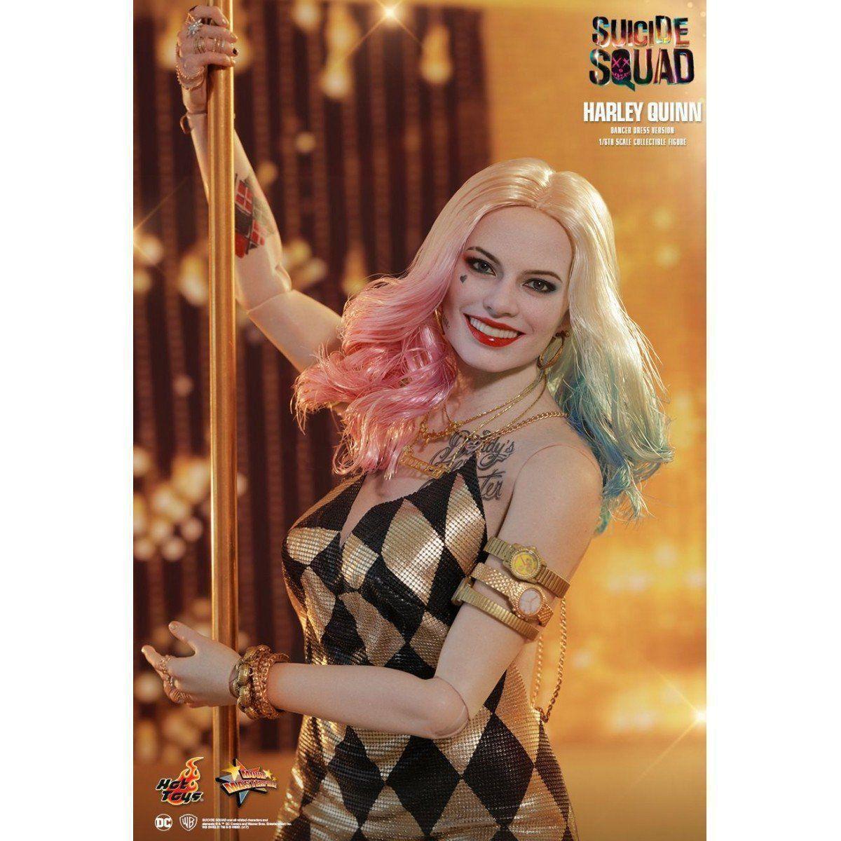 Boneco Arlequina (Harley Quinn) com Vestido de Dança (Dancer Dress Version): Esquadrão Suicida (MMS439) Escala 1/6 - Hot Toys