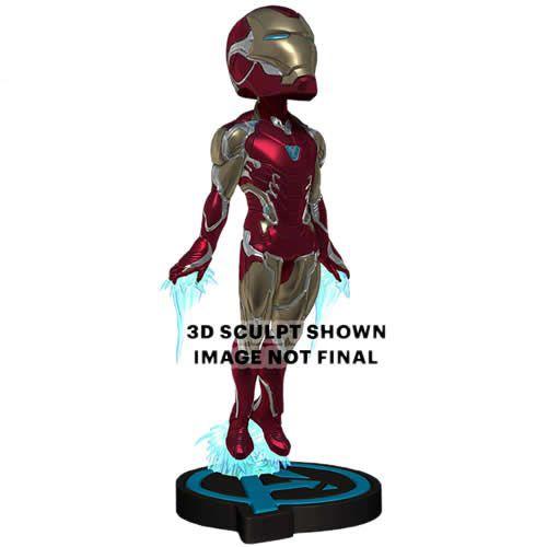 PRÉ VENDA Action Figure Homem de Ferro (Iron Man) Head Knockers: Avengers 4 Endgame -  Boneco Colecionável - Neca