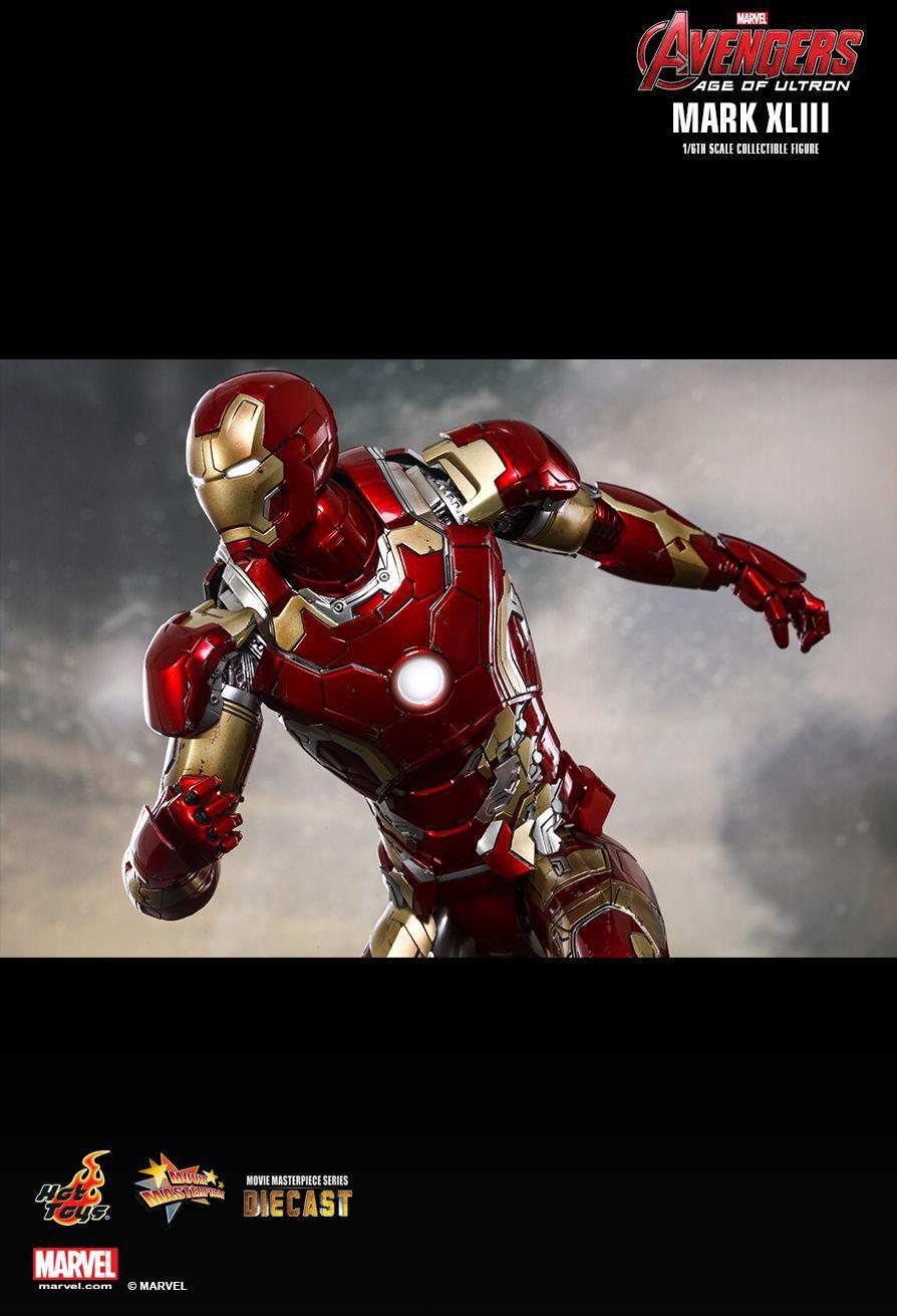 Action Figure Homem de Ferro (Iron Man) Mark XLIII: Vingadores Era de Ultron (Avengers: Age of Ultron) Diecast (MMS278D09) Boneco Colecionável Escala 1/6 - Hot Toys