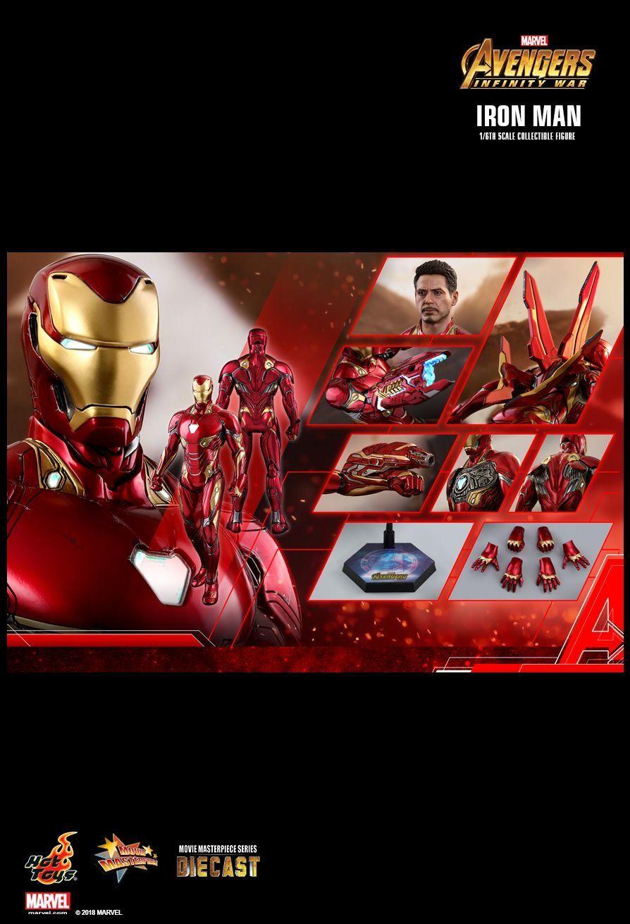 Action Figure Homem de Ferro Mark 50 (Iron Man Mark L): Vingadores Guerra Infinita (Avengers Infinity War) (MMS473 D23) (Escala 1/6) - Hot Toys