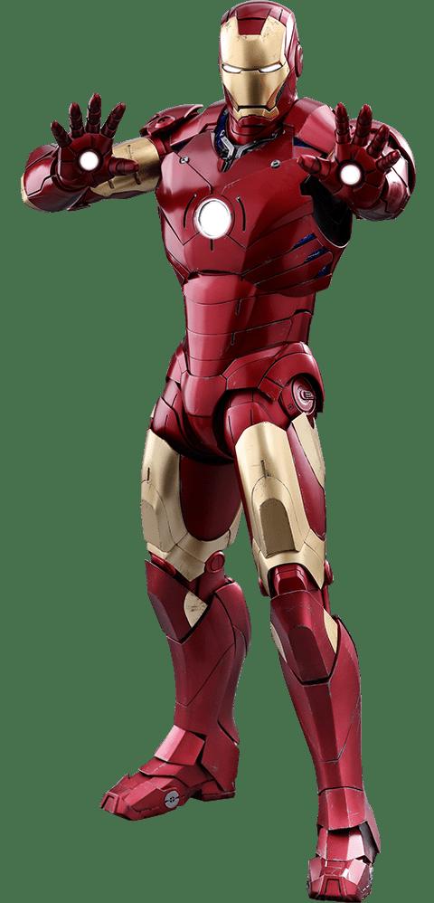 Action Figure Homem de Ferro Mark III (Iron Man Mark III): 10º Aniversário (10th anniversary) (QS011) Escala 1/4 - Hot Toys - CD
