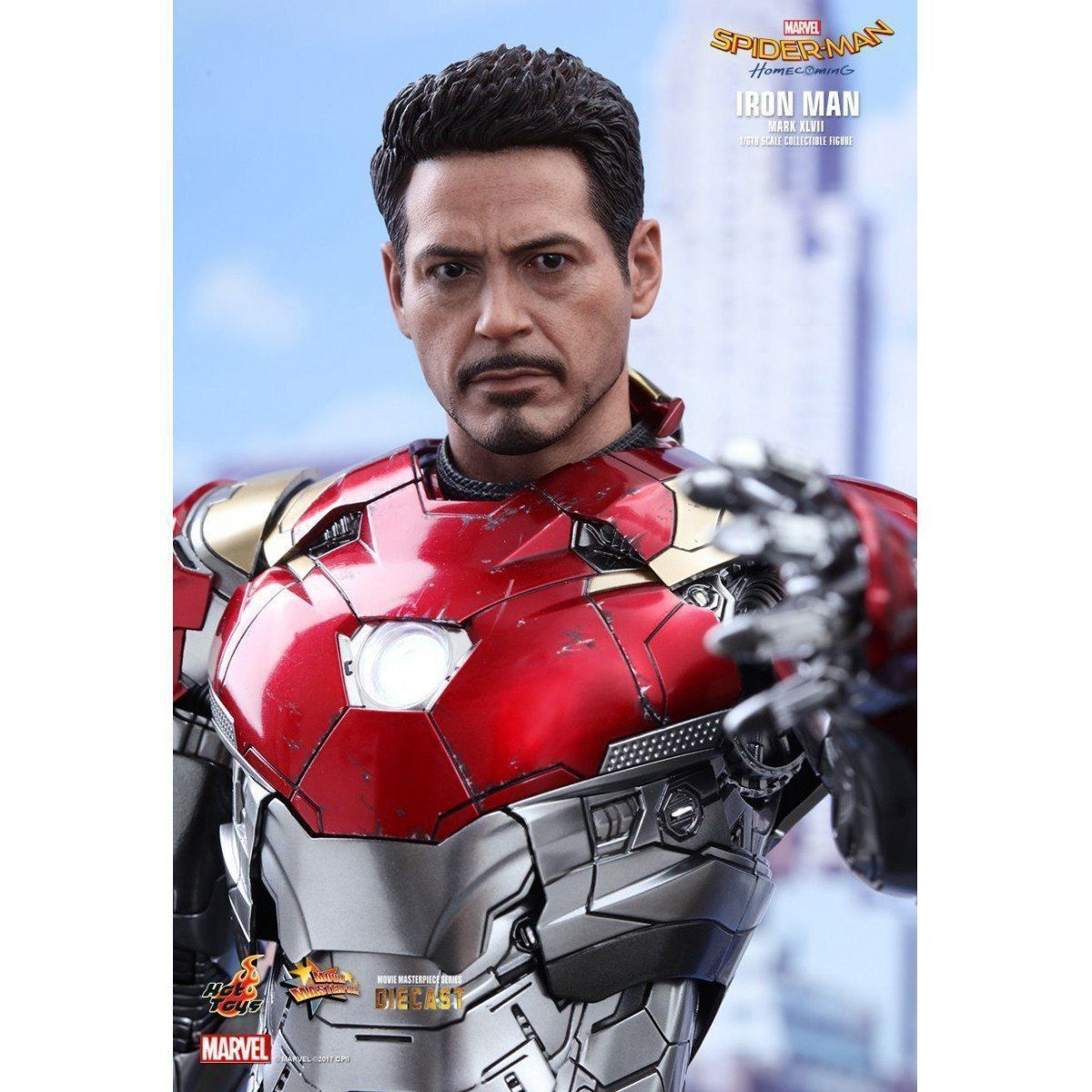 PRÉ VENDA: Boneco Homem de Ferro Mark XLVII (Iron Man): Homem-Aranha De Volta ao Lar (Spider-Man Homecoming) Escala 1/6 - Hot Toys