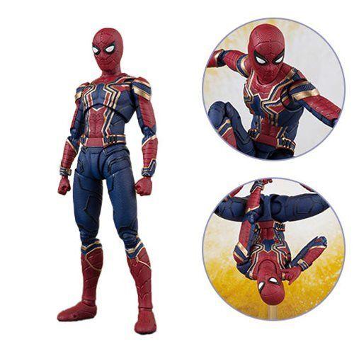 Action Figure Homen-Aranha (Iron Spider And Stage): Vingadores Guerra Infinita (Avengers Infinity War) S.H.Figuarts - Bandai
