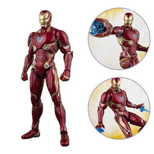 PRÉ VENDA: Boneco Homen de Ferro (Iron Man Mk50 And Stage ): Vingadores Guerra Infinita (Avengers Infinity War) S.H.Figuarts - Bandai