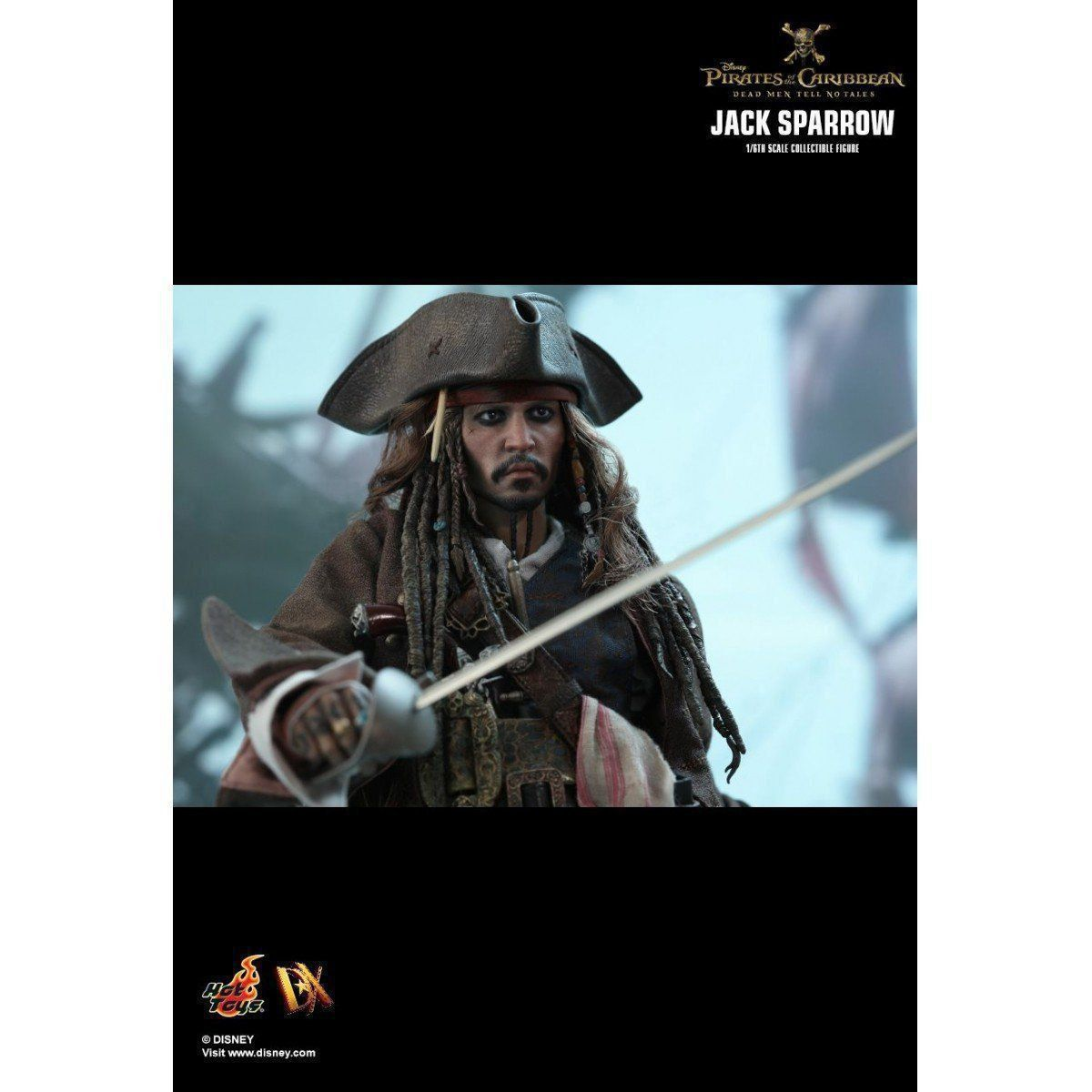 Boneco Jack Sparrow: Piratas do Caribe A Vingança de Salazar (Dead Men Tell No Tales) Escala 1/6 (DX15) - Hot Toys