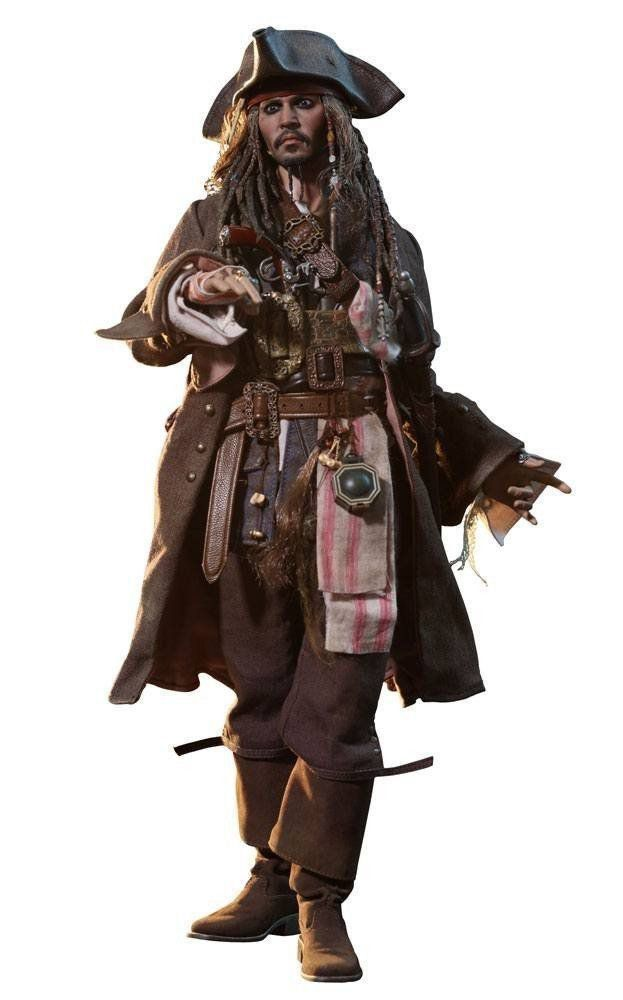 Action Figure Jack Sparrow: Piratas do Caribe A Vingança de Salazar (Dead Men Tell No Tales) Escala 1/6 (DX15) - Hot Toys