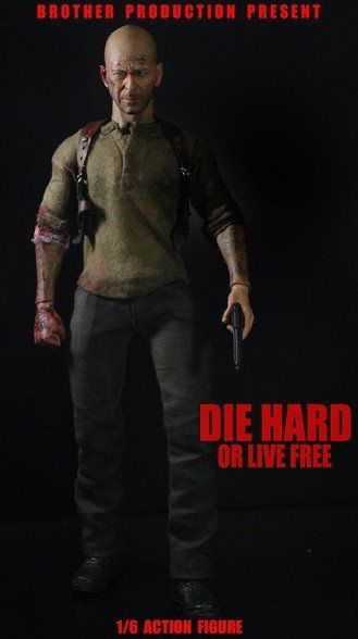PRÉ VENDA: Boneco John McClane (Bruce Willis): Duro de Matar Escala 1/6 - Brother Production
