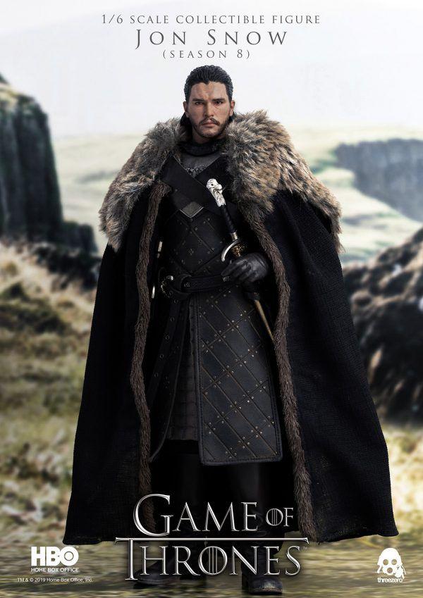 PRÉ VENDA Action Figure Jon Snow: Game of Thrones (8ª Temporada) - Escala 1/6 - Boneco Colecionável - Threezero