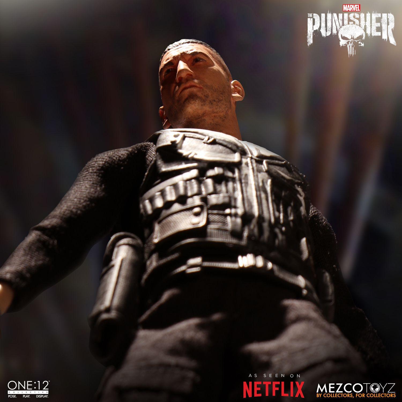 Action Figure Justiceiro (Punisher): The Punisher (Marvel) One:12 Collective (Escala 1/12) Boneco Colecionável - Mezco