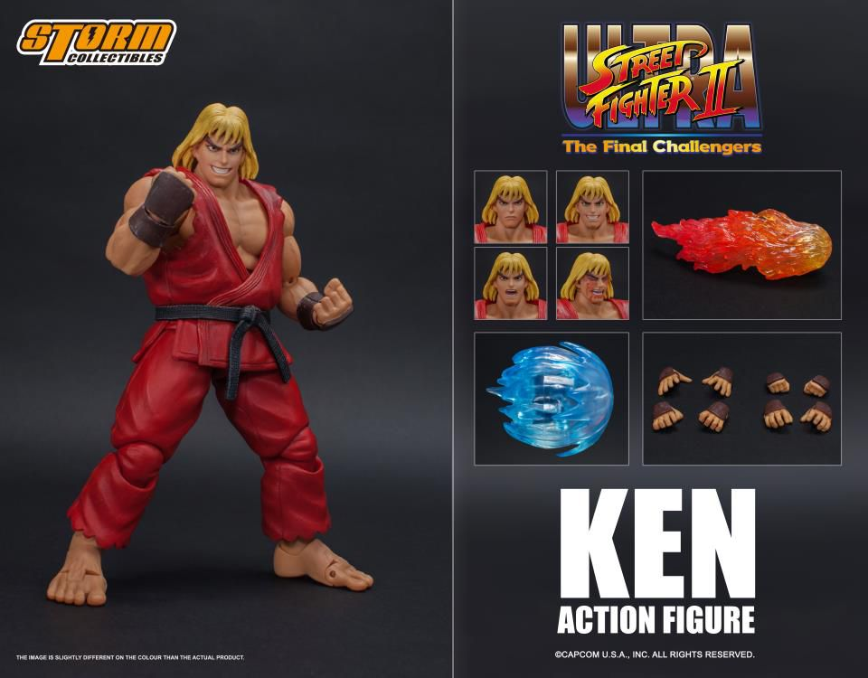 Action Figure Ken: Street Fighter II (Escala 1/12) Boneco Colecionável - Storm Collectibles