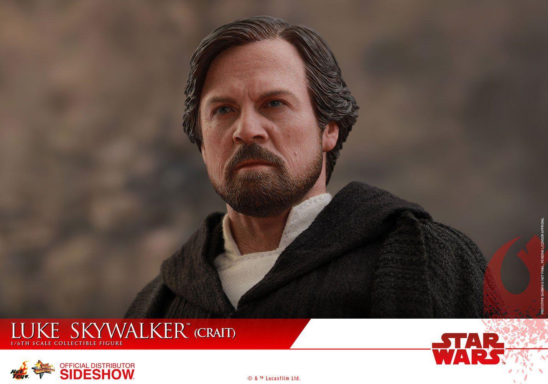 Action Figure Luke Skywalker (Crait): Star Wars Os Últimos Jedi (The Last Jedi) Escala 1/6 (MMS507) - Hot Toys
