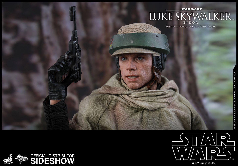 PRÉ VENDA: Boneco Luke Skywalker (Endor): Star Wars Episódio VI O Retorno de Jedi (Return of the Jedi) Escala 1/6 (MMS516) - Hot Toys