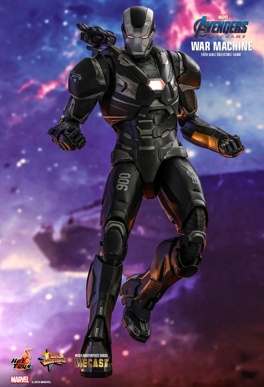 PRÉ VENDA Action Figure Máquina de Combate (War Machine): Vingadores Ultimato (Avengers Endgame) MMS530 D31 - Escala 1/6 -  Boneco Colecionável - Hot Toys