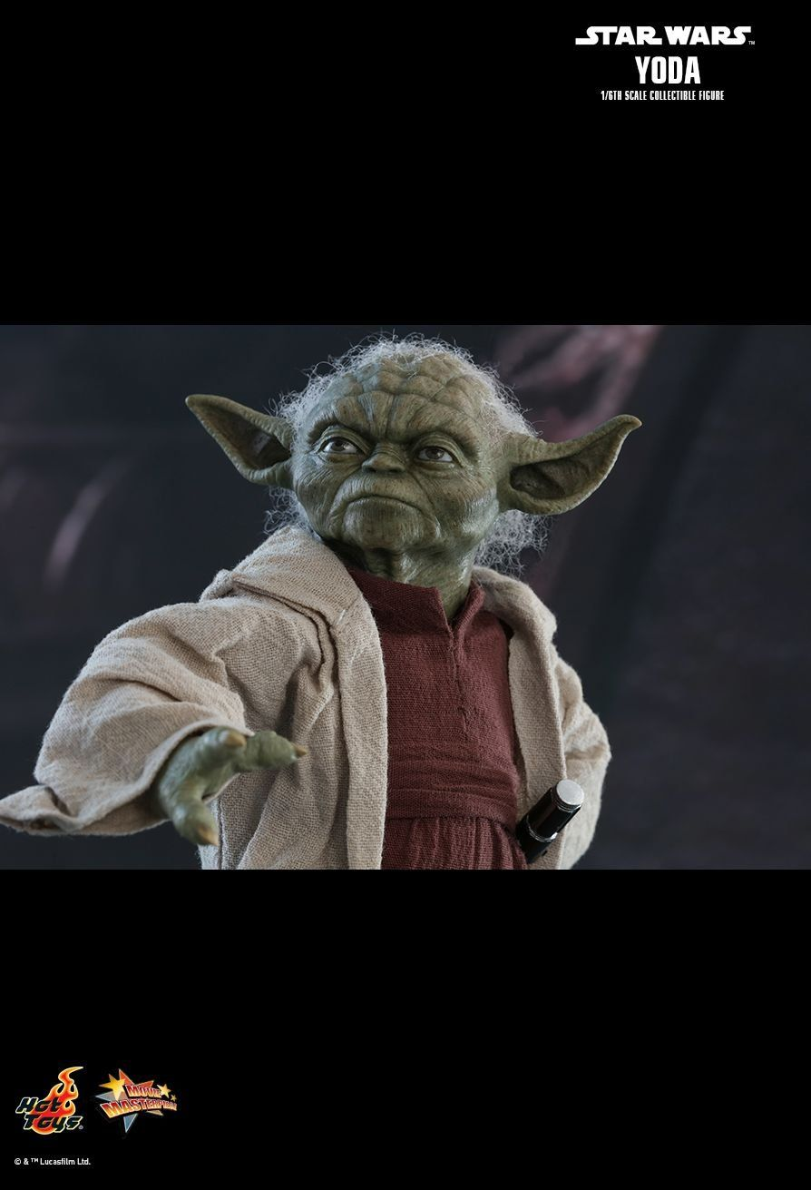 PRÉ VENDA: Boneco Mestre Yoda: Star Wars: Episódio II - Ataque dos Clones (MMS495) Escala 1/6 - Hot Toys