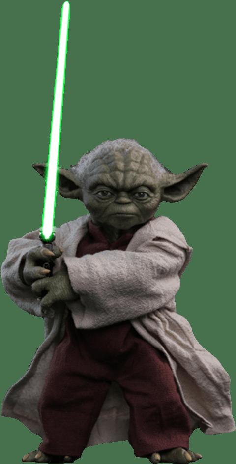Boneco Mestre Yoda: Star Wars: Episódio II - Ataque dos Clones (MMS495) Escala 1/6 - Hot Toys (Apenas Venda Online)