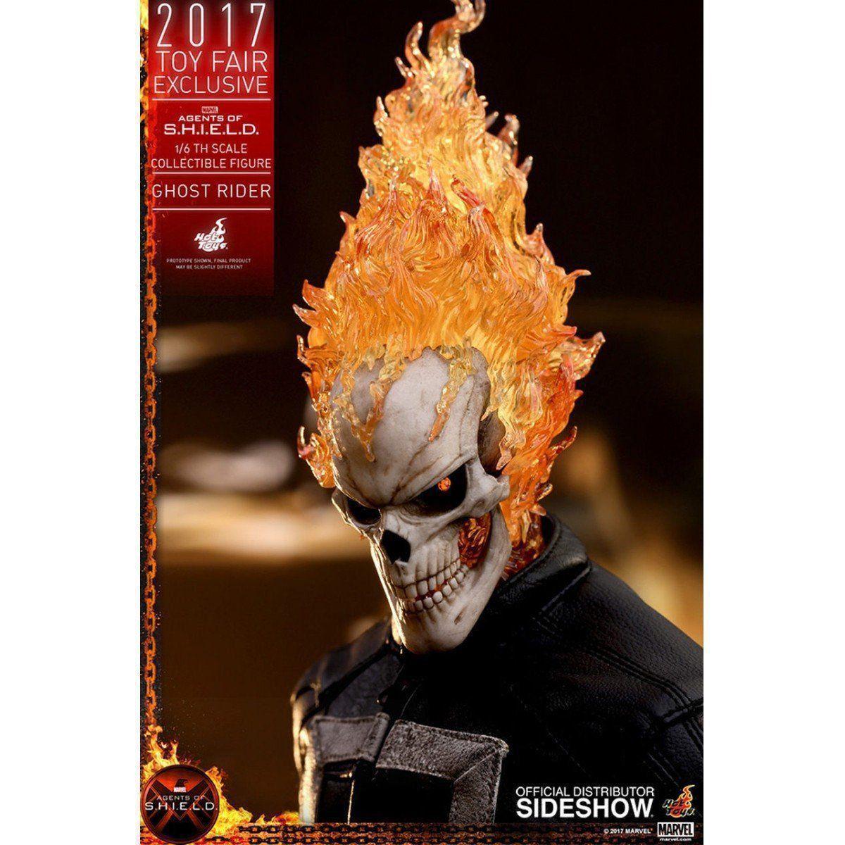 Boneco Motoqueiro Fantasma (Ghost Rider): Agentes da S.H.I.E.L.D. EXCLUSIVO Escala 1/6 - Hot Toys