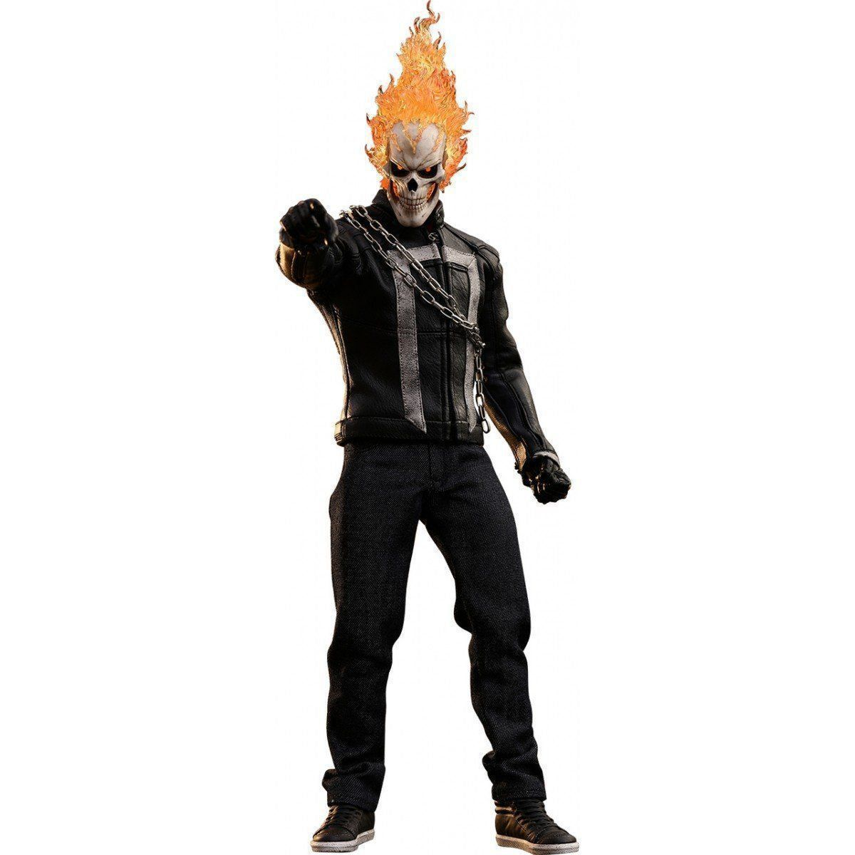 Action Figure Motoqueiro Fantasma (Ghost Rider Toy Fair Exclusive): Agentes da S.H.I.E.L.D. (Escala 1/6) TMS005 - Hot Toys