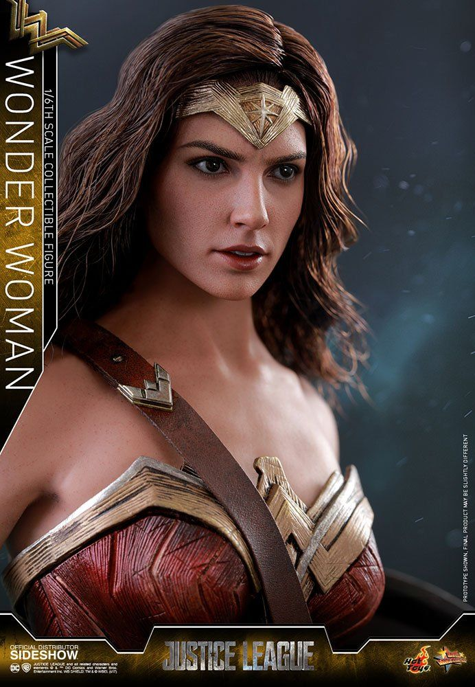 Action Figure Mulher Maravilha (Wonder Woman): Liga da Justiça (Justice League) (Masterpiece) Escala 1/6 (MMS450) - Hot Toys