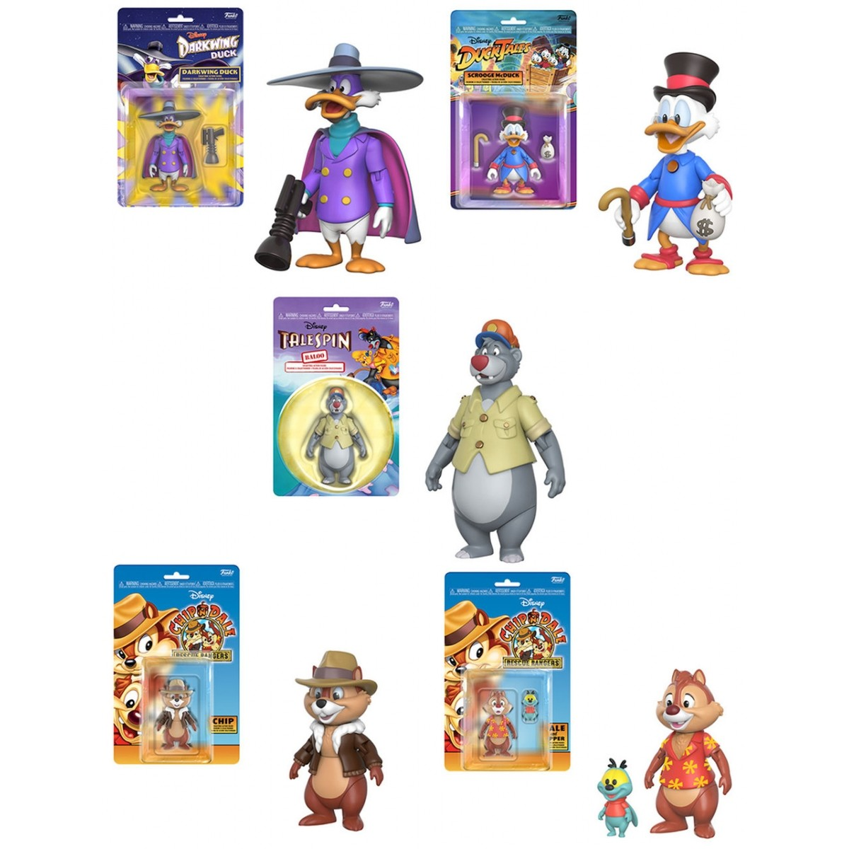 PRÉ VENDA: Boneco Pack Disney Afternoon (Set com 5) - Funko