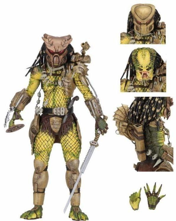 PRÉ VENDA: Boneco Predator (Predador) Ultimate Elder The Golden Angel Predator - NECA