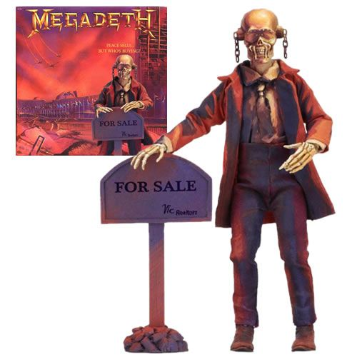 "Action Figure Retrô Vic Rattlehead 8"": Megadeth (Peace Sells... But Who's Buying?) Boneco Colecionável - Neca"
