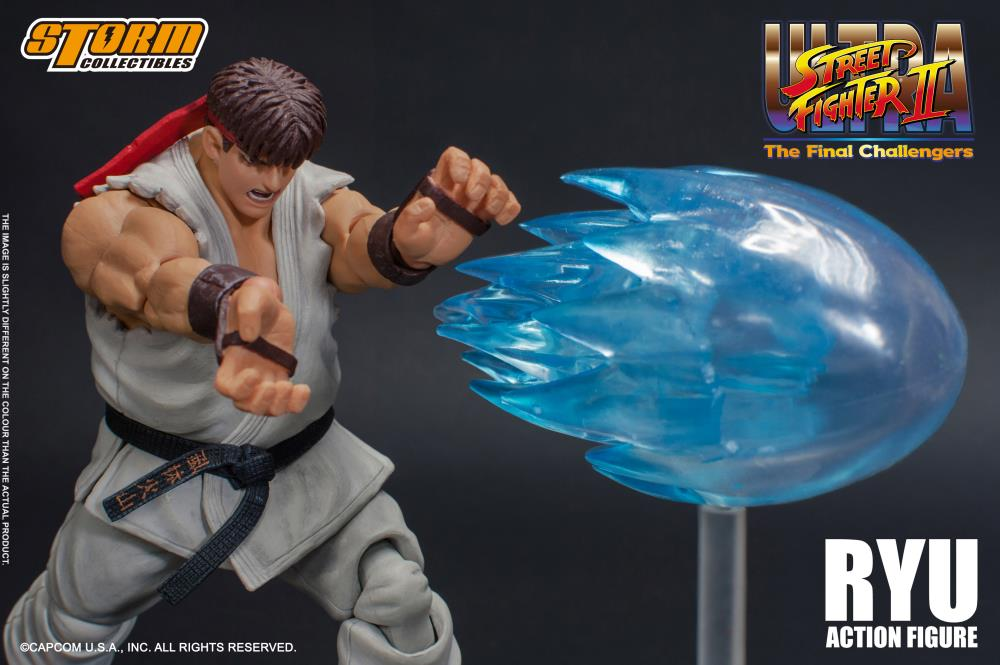 Action Figure Ryu: Street Fighter II (Escala 1/12) Boneco Colecionável - Storm Collectibles