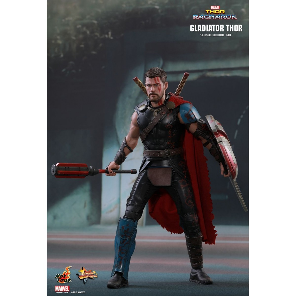 Action Figure Thor Gladiador (Gladiator) Deluxe: Thor Ragnarok (Escala 1/6) MMS445 - Hot Toys