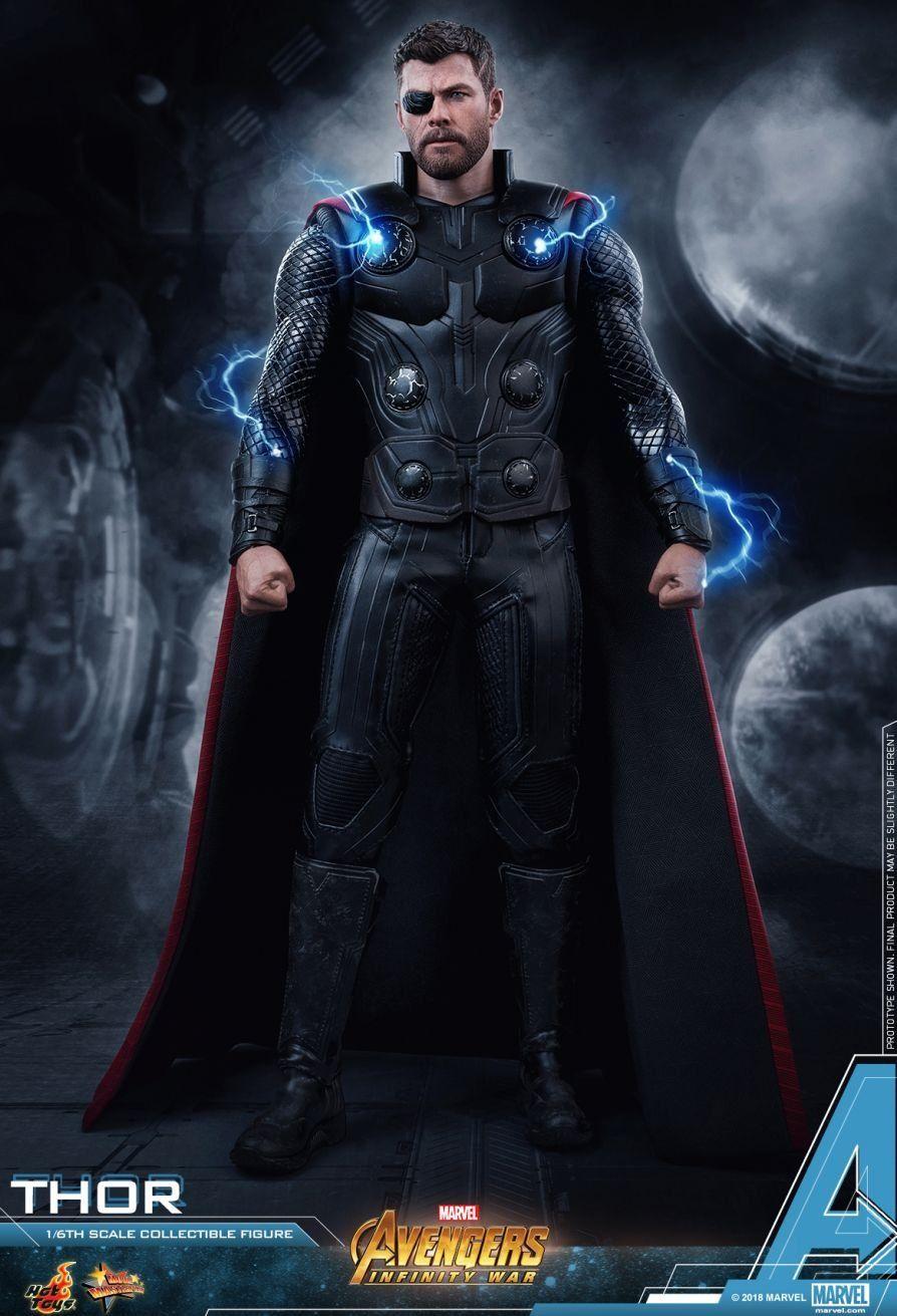 Boneco Thor: Vingadores 3 Guerra Infinita (Avengers Infinity War) (Masterpiece) (Escala 1/6) - Hot Toys (Apenas Venda Online)