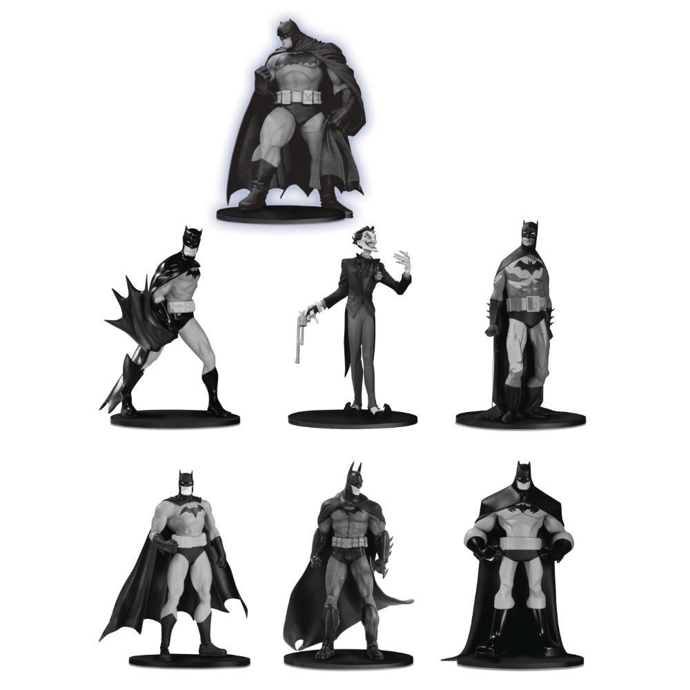 Action Figure Batman Mini: Black And White - Grupo 3 (Pack de 7) Boneco Colecionável - DC Collectibles