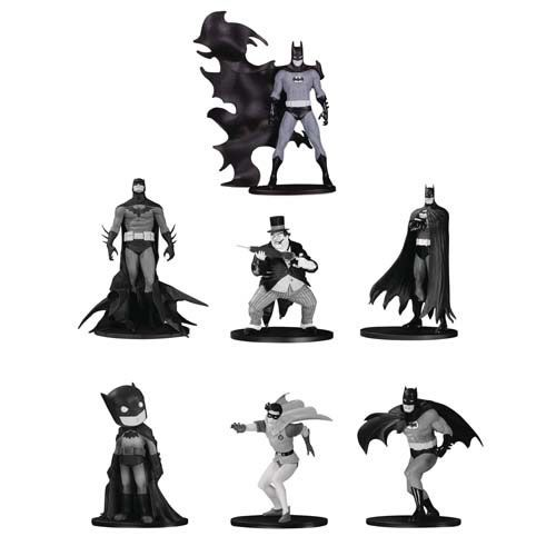 PRÉ VENDA Action Figure Batman Mini: Black And White - Grupo 4 (Pack de 7) Boneco Colecionável - DC Collectibles