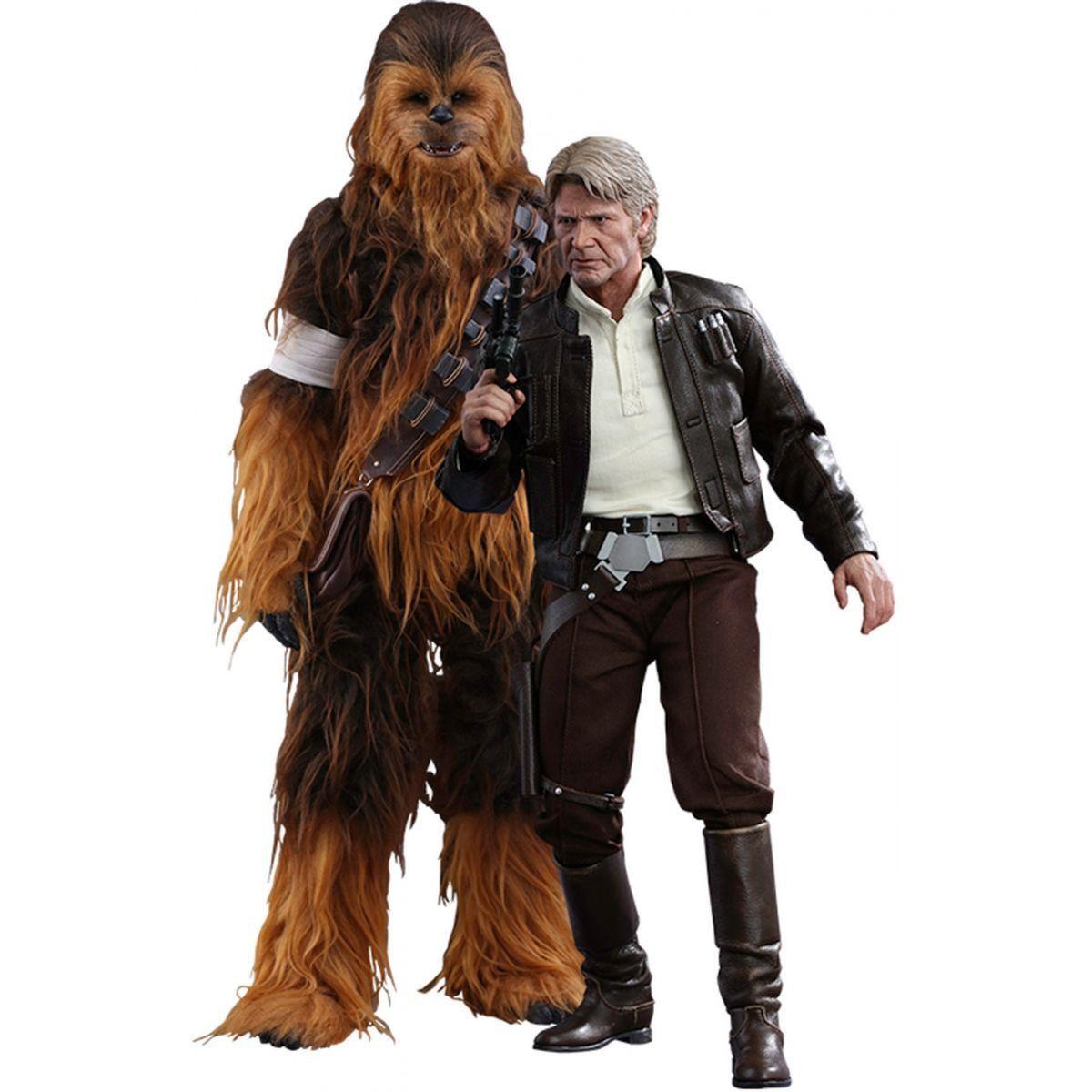 Boneco Han Solo & Chewbacca: Star Wars (O Despertar da Força Movie) Escala 1/6 (MMS376)- Hot Toys