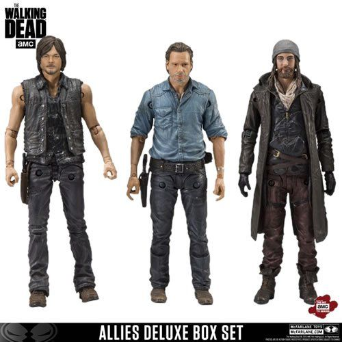 PRÉ VENDA: Bonecos Rick,Daryl e Jesus (Allies Deluxe Box Set) : The Walking Dead - Mcfarlane Toys