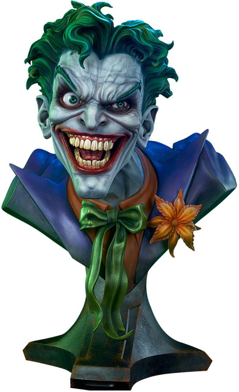 PRÉ VENDA: Estátua Busto Coringa (Joker) Life-Size (DC Comics) Escala 1/1 - Sideshow Collectibles