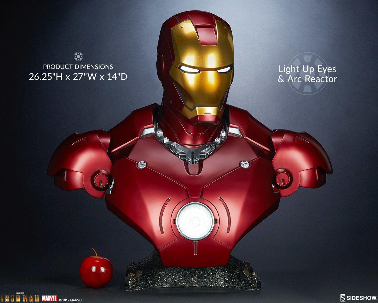 PRÉ-VENDA Busto Homem de Ferro (Iron Man): Marvel (Mark III) (Life-Size) - Sideshow