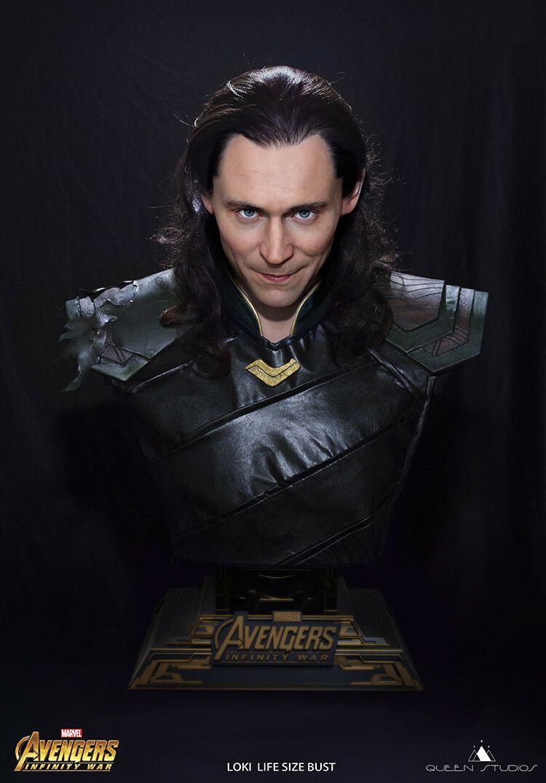 PRÉ VENDA Estátua Busto Loki: Vingadores Guerra Infinita (Avengers Infinity War) Escala 1/1 - Queen Studios