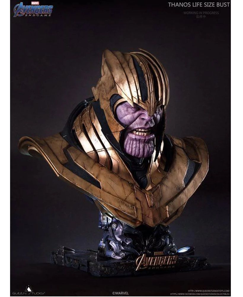 PRÉ VENDA Estátua Busto Thanos: Vingadores Ultimato (Avengers End Game) Escala 1/1 - Queen Studios